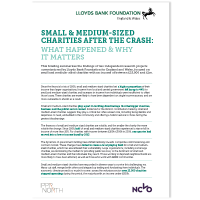 Small Charities after the Crash